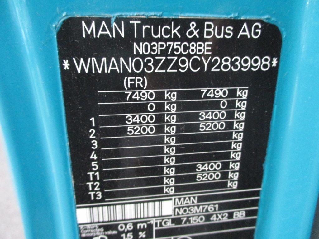 MAN  TGL 8.150 16 palet