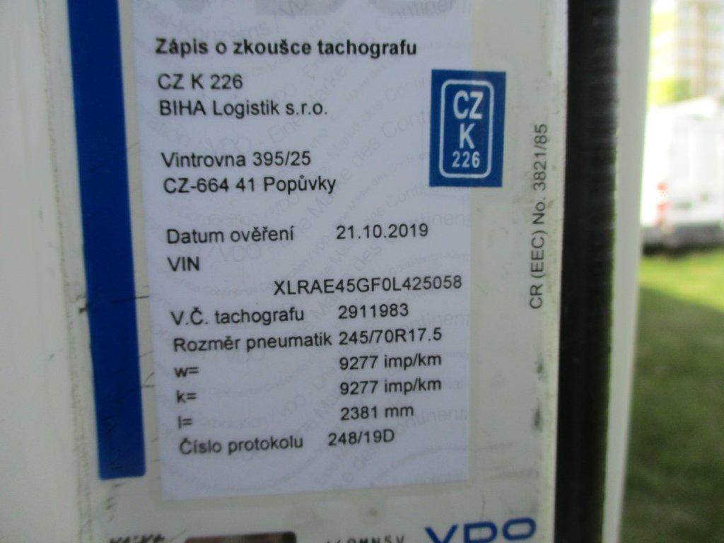 DAF  LF 12.220 18 palet, 2 lůžka