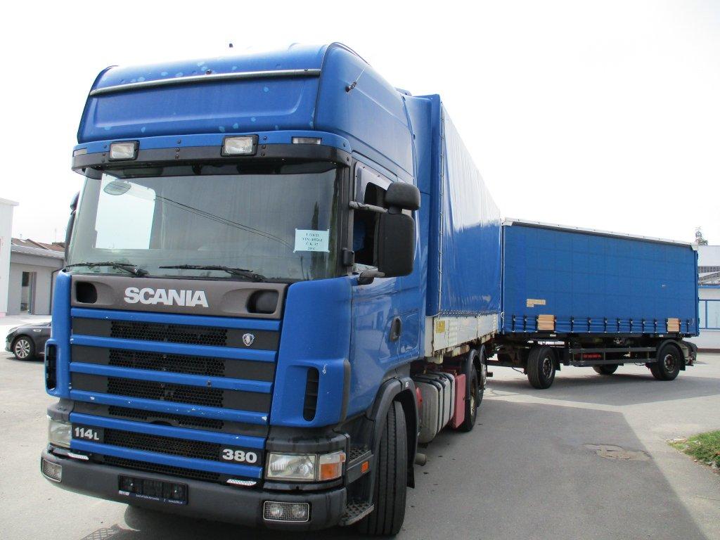 Scania  114L380 6x2 EURO 2 BDF + Schmitz