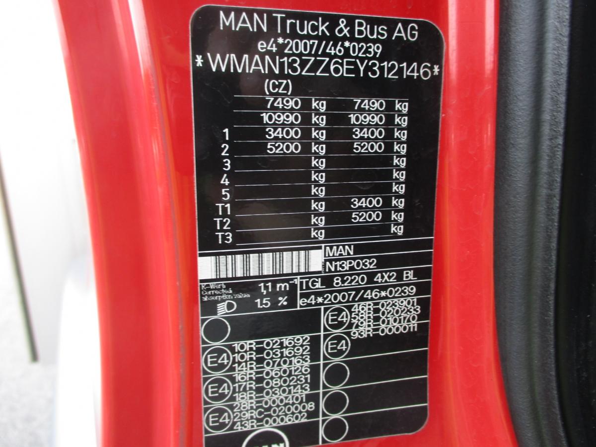 MAN MAN TGL 8.220 18 palet, 1 lůžko