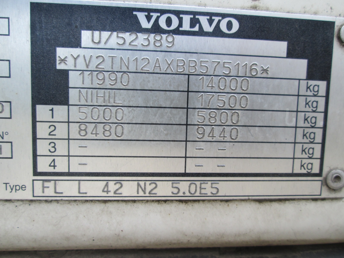 Volvo  FL12.240 EURO 5